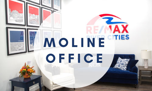 RE/MAX River Cities Moline Office interior